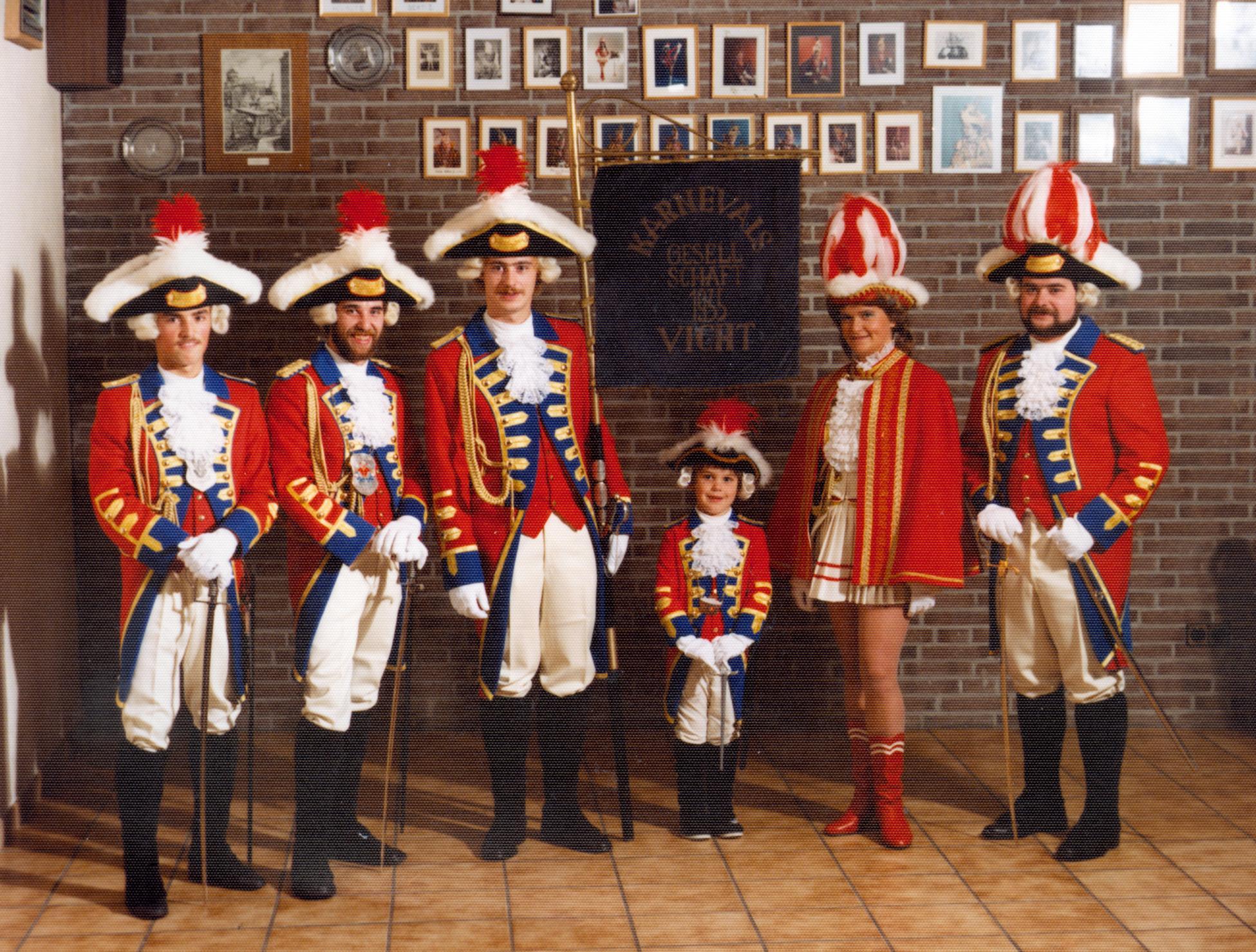 Prinzengarde der KG Vicht, Karneval